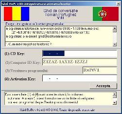 Ghid de conversatie Roman Portughez: RoPtV1: Formularul de inregistrare si activare a licentei