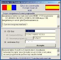 Ghid de conversatie Roman Spaniol: RoSpV1: Formularul de inregistrare si activare a licentei